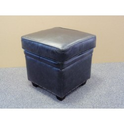 Cushion Top Square Pouffe Stool