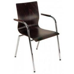 Lisbon Arm Chair Wenge Veneer Seat