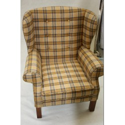 Edward Button Back Wing Chair