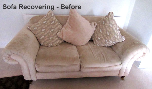 Sofa recovering and re-upholstering