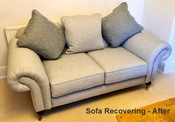 Soft re-upholstery and recovering