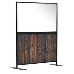 Covid Screen 750cm Rustic Wood