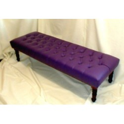 Deep Button Bench Stool