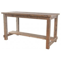 Rail Base Pine Top Table Any Height