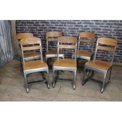 Vintage Metal/Wood Frame Chair